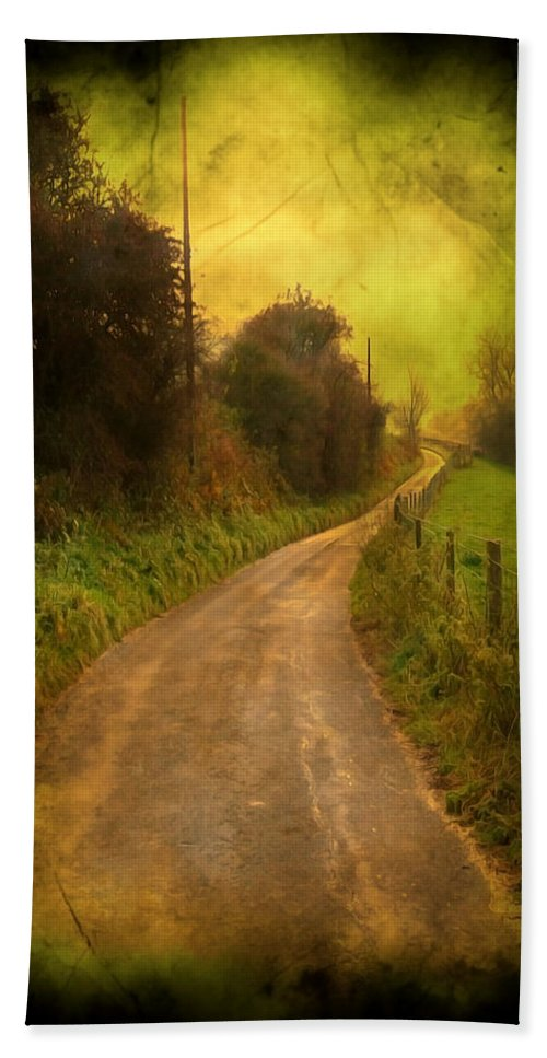 Abstract Bath Sheet featuring the photograph Countryside Road by Svetlana Sewell