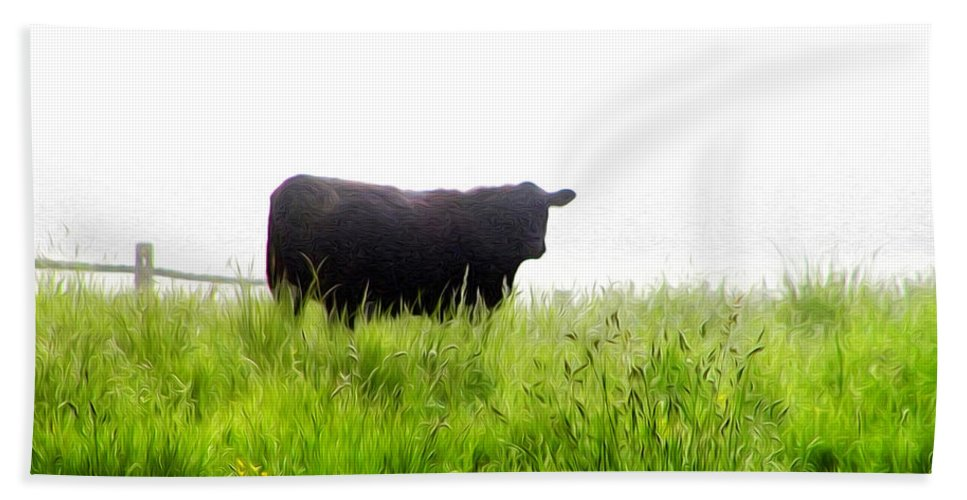 Cow Country Hand Towel featuring the photograph Cow Country by Bill Cannon