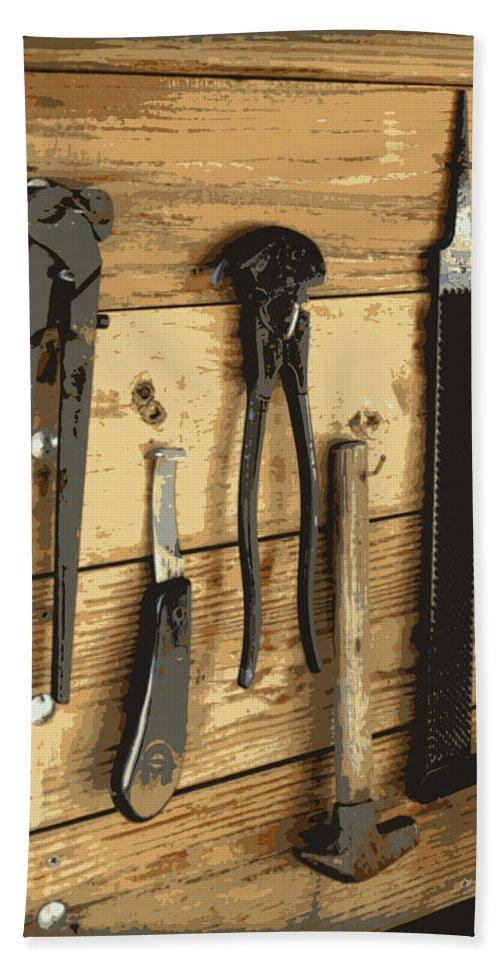 Cowboy Bath Sheet featuring the digital art Cowboy's Tools by Tina Meador