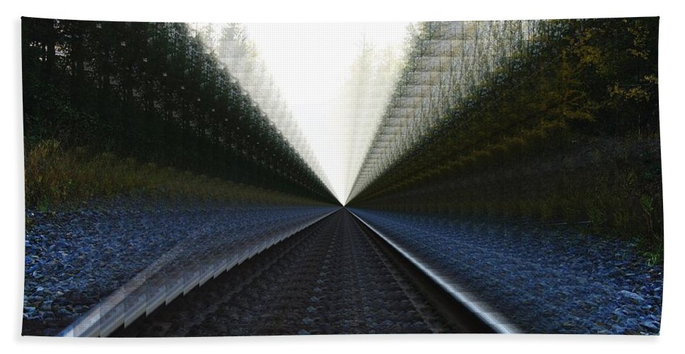Rail Road Tracks Hand Towel featuring the photograph Crazy Tracks by Jeff Swan