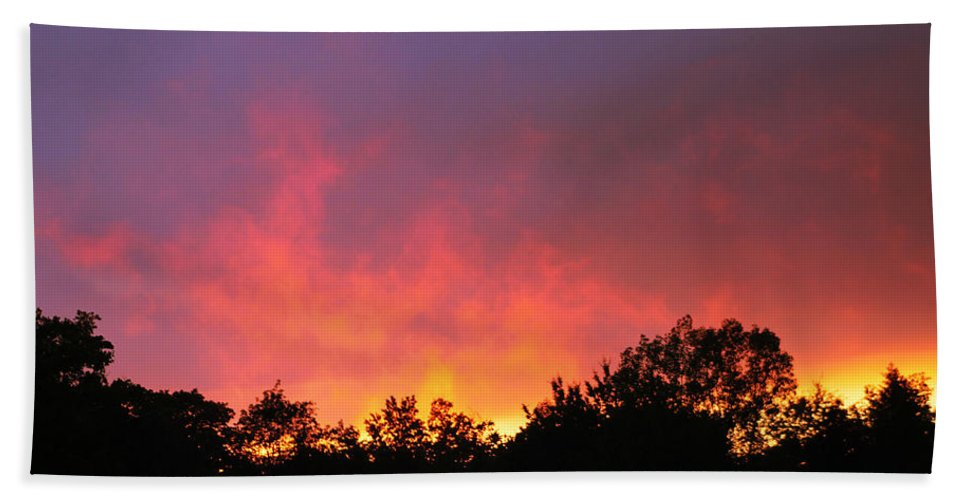 Sunset Hand Towel featuring the photograph Crepuscule by Bruce Patrick Smith