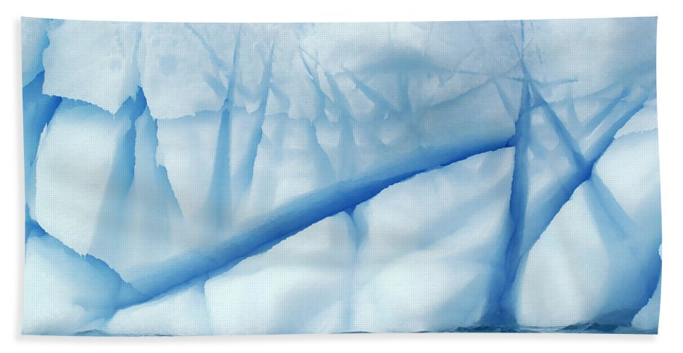 Mp Hand Towel featuring the photograph Crevasses Created By The Melting by Jan Vermeer