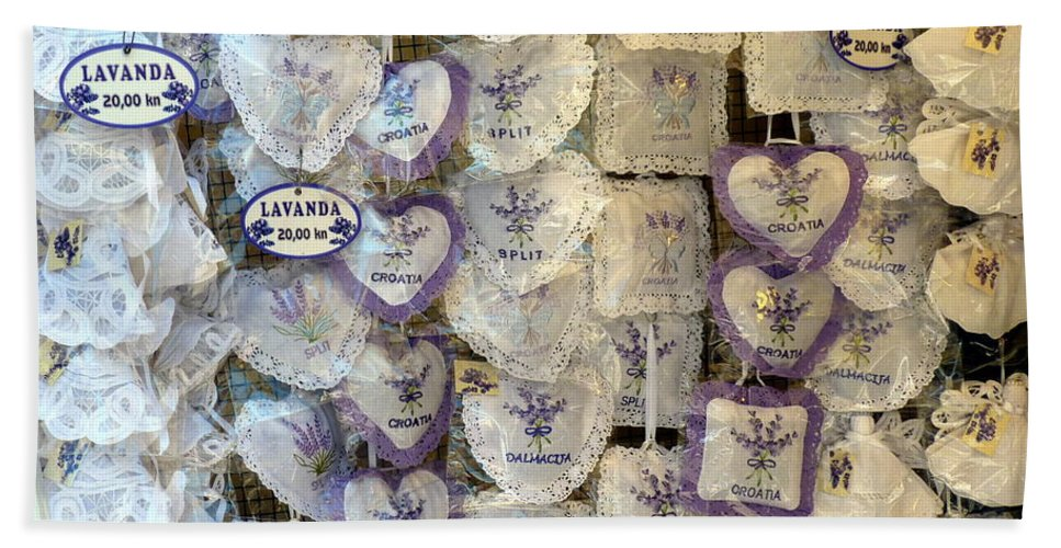Lavender Hand Towel featuring the photograph Croatian Lavender by Carla Parris