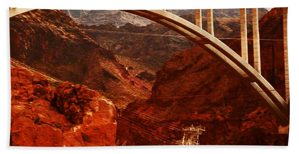 Bridge Hand Towel featuring the photograph Crossing Over by Angela L Walker