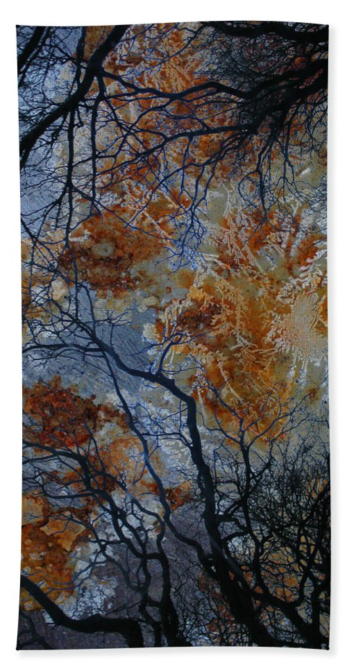 Branches Hand Towel featuring the photograph Crusted Criticism by The Artist Project