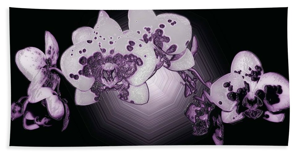 Orchid Bath Sheet featuring the photograph Crystal Butterfly Orchid by DigiArt Diaries by Vicky B Fuller