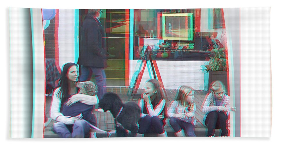 3d Bath Sheet featuring the photograph Curb Resting - Red-cyan 3d Glasses Required by Brian Wallace