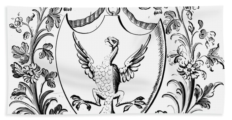 18th Century Hand Towel featuring the photograph Custis: Coat Of Arms by Granger