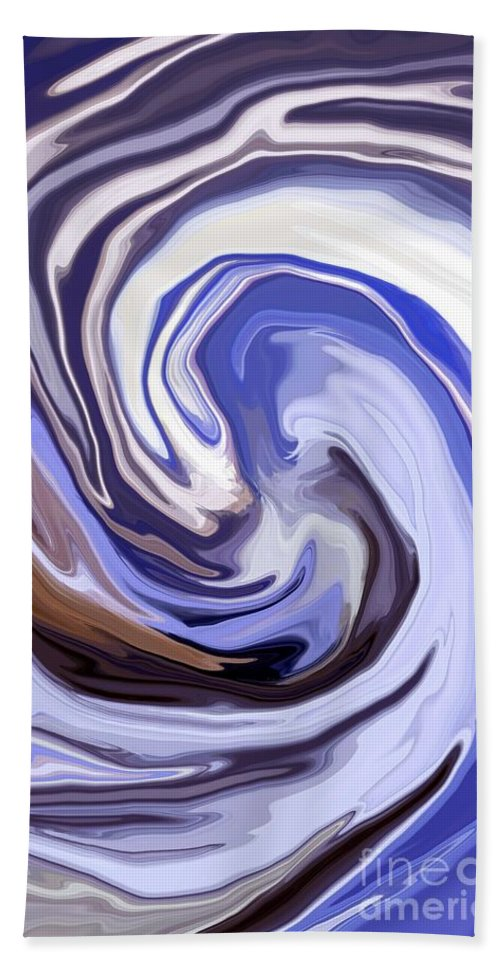 Abstract Bath Sheet featuring the mixed media Cyclone by Chris Butler