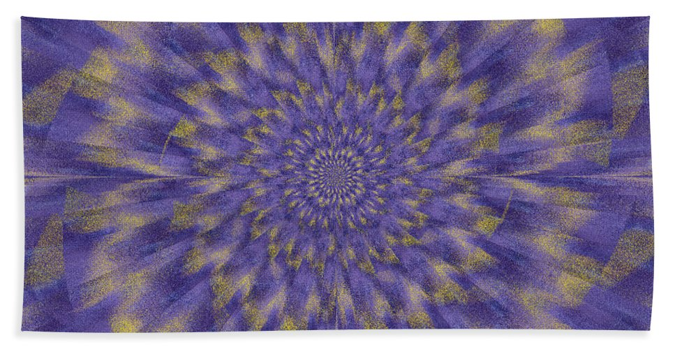 Fractal Hand Towel featuring the digital art Dahlia Akita by Mark Greenberg