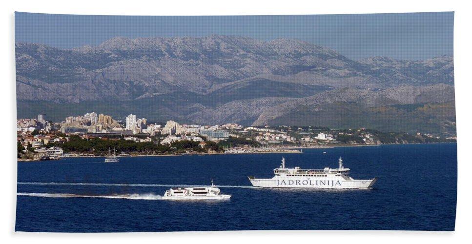 Dalmatia Hand Towel featuring the photograph Dalmatian Coast by Carla Parris
