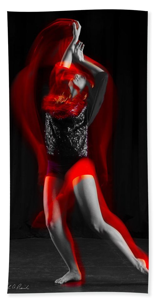 Photography Hand Towel featuring the photograph Dancing With Fire by Frederic A Reinecke
