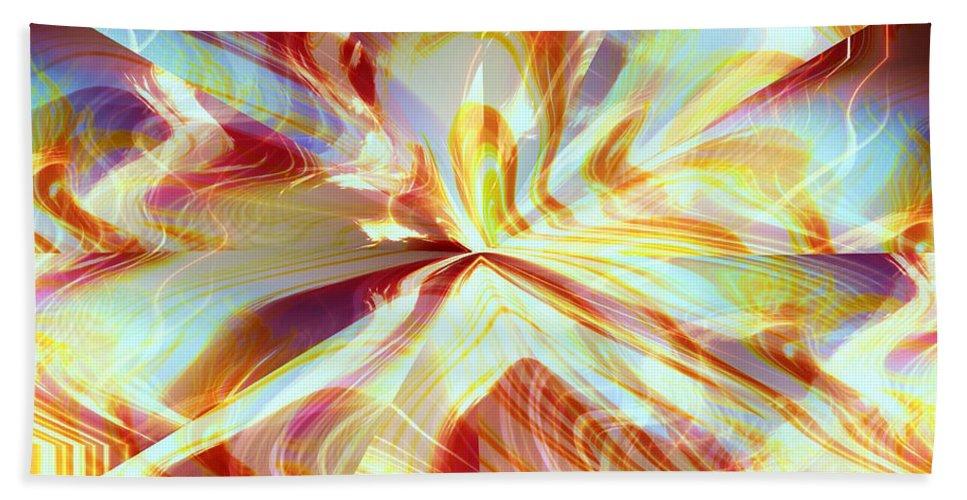 Flames Bath Sheet featuring the digital art Dancing With Fire by Shana Rowe Jackson
