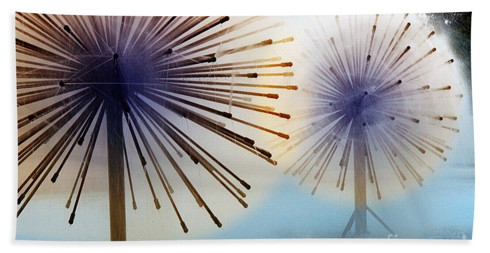 Clay Bath Sheet featuring the photograph Dandylion Fountains by Clayton Bruster