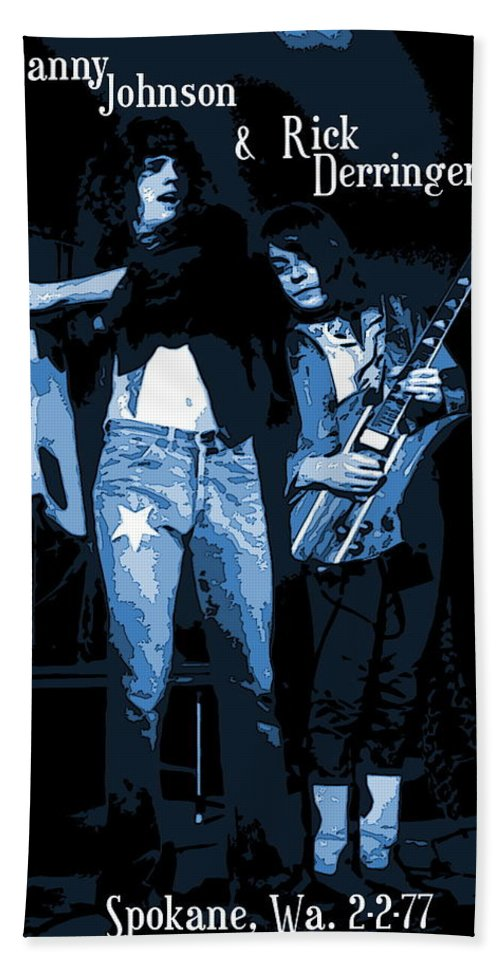 Derringer Bath Sheet featuring the photograph D J And R D Playing The Blues 1977 by Ben Upham