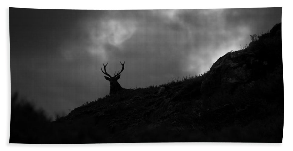Silhouette Hand Towel featuring the photograph Dark And Stormy by Gavin Macrae