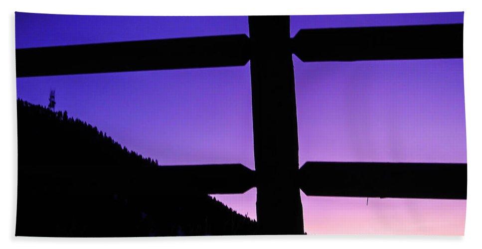Landscapes Bath Sheet featuring the photograph Darkening Sky by Shannon Harrington