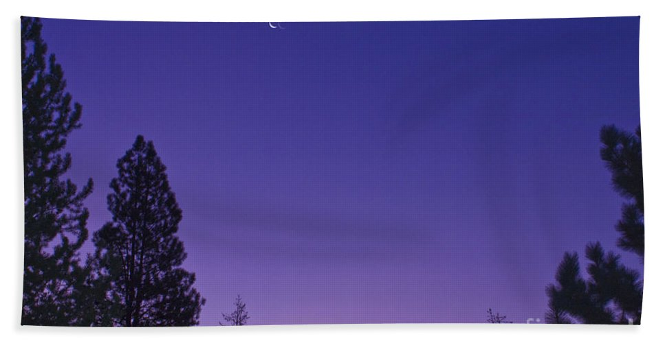 Sunrise Hand Towel featuring the photograph Dawn From My Window by Janie Johnson