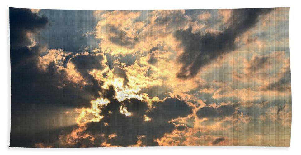 Dazzling Hand Towel featuring the photograph Dazzling Sunset by Maria Urso