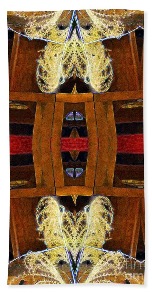 Tarot Bath Sheet featuring the painting Death - Card Xi From The Tarot Of Flowers by RC DeWinter