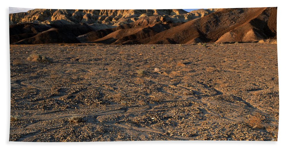 Sandra Bronstein Hand Towel featuring the photograph Death Valley by Sandra Bronstein