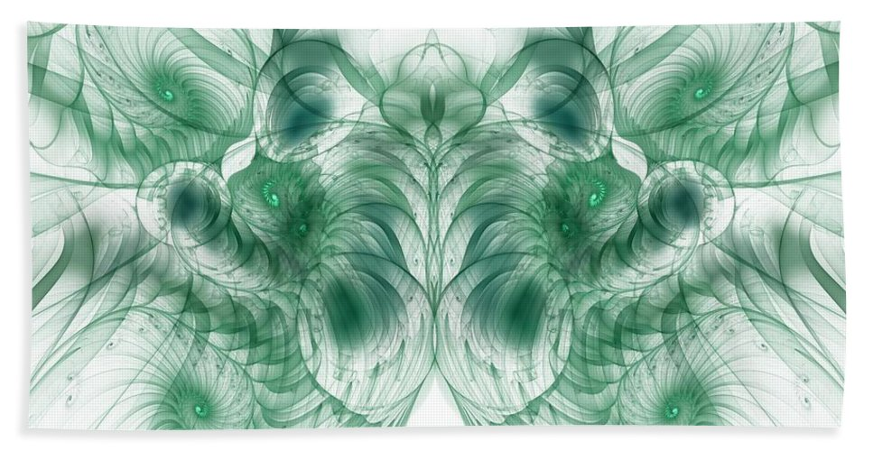 deep Exploration Bath Sheet featuring the digital art Deep Exploration by Georgiana Romanovna
