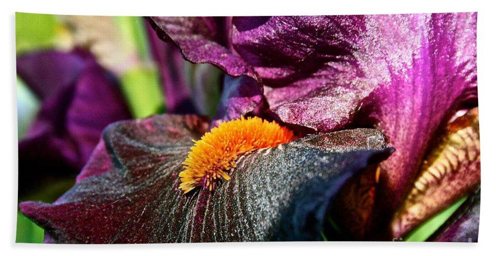 Plant Bath Sheet featuring the photograph Deep Purple by Susan Herber