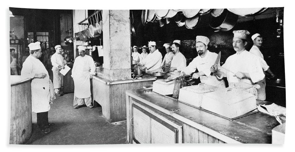 1902 Bath Sheet featuring the photograph Delmonicos Restaurant by Granger