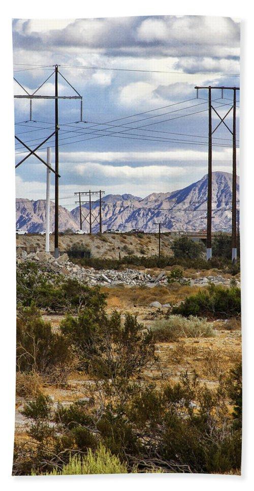 Windmills Bath Sheet featuring the photograph Desert Blue by William Dey