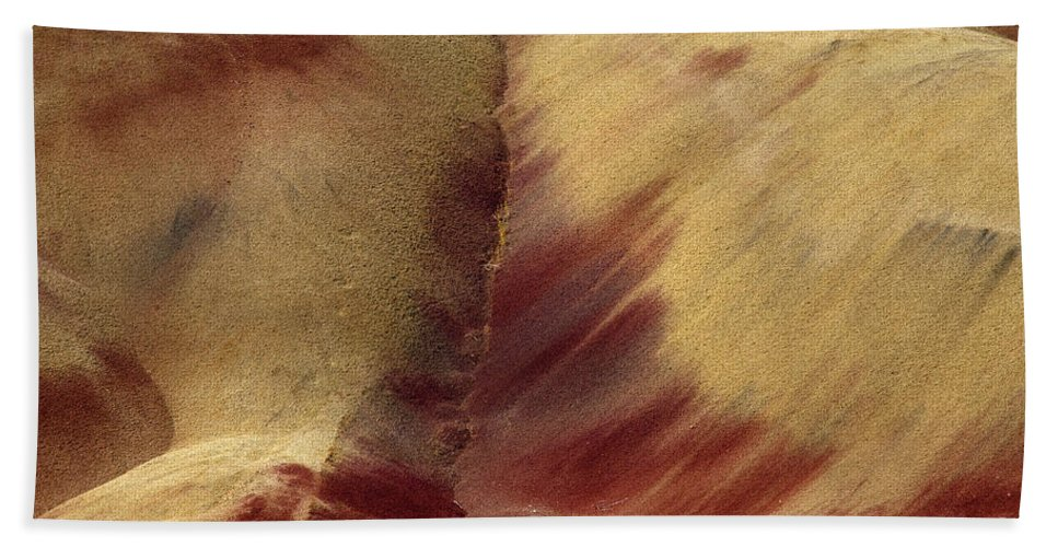Painted Hills Hand Towel featuring the photograph Desert Brushstrokes by Mike Dawson