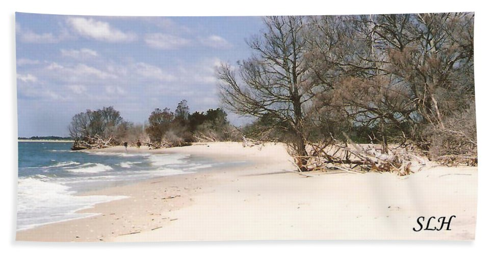 Georgetown Island Hand Towel featuring the photograph Deserted Island by Lee Hartsell