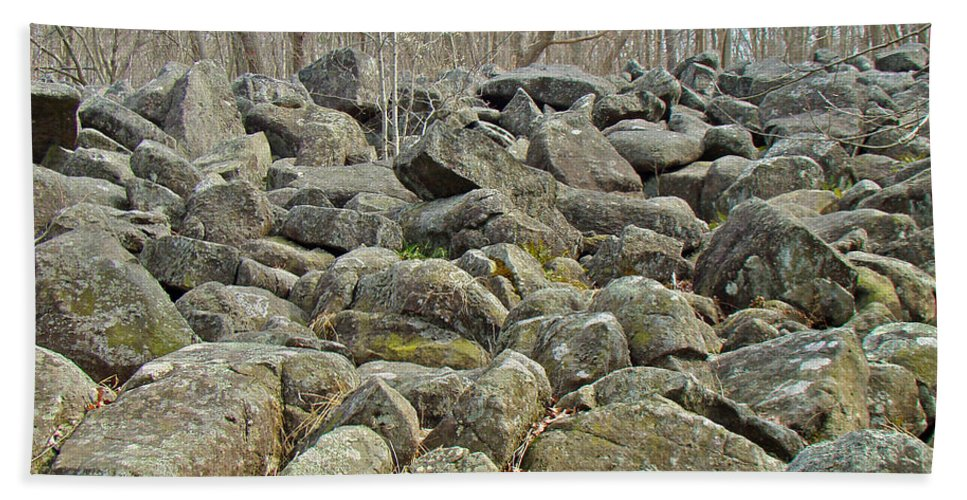 Rocks Hand Towel featuring the photograph Devil's Potato Patch - Montgomery County - Pennsylvania by Mother Nature