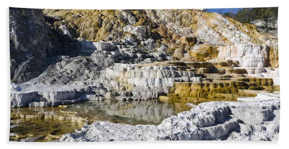 Yellowstone National Park Bath Sheet featuring the photograph Devils Thumb by Jon Berghoff