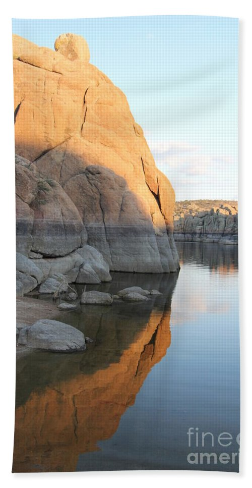 Watson Lake Bath Sheet featuring the photograph Diane Greco-lesser by Diane Greco-Lesser