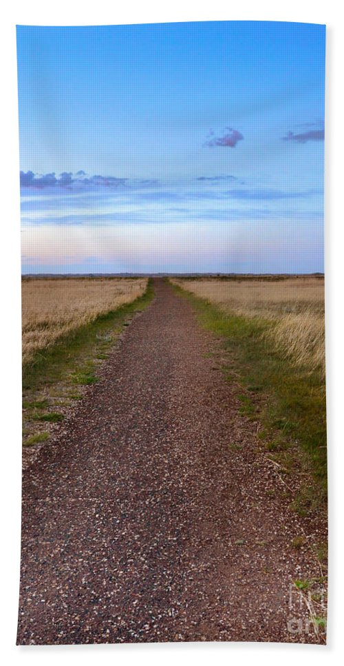 Prairie Hand Towel featuring the photograph Dirt Road Through The Prairie by Jill Battaglia