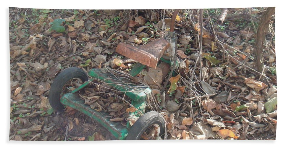 Trike Hand Towel featuring the photograph Discarded by Bonfire Photography