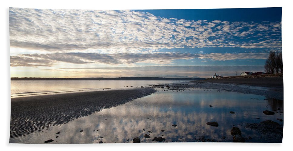 Discovery Park Bath Sheet featuring the photograph Discovery Park Tidepools by Mike Reid
