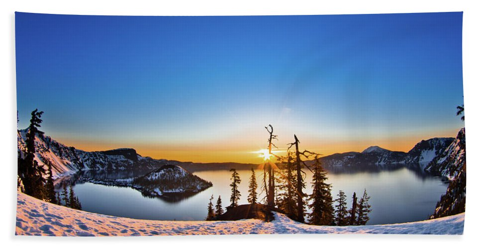 Cascades Bath Sheet featuring the photograph Discovery Point Sunrise by Greg Nyquist
