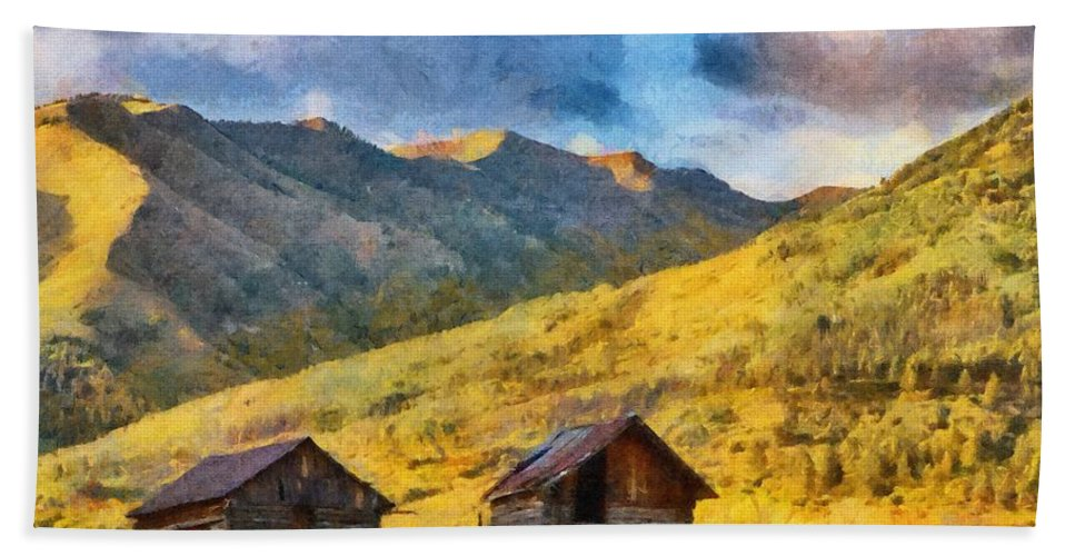Colorado Bath Sheet featuring the painting Distant Storm by Jeffrey Kolker