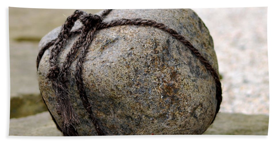 Rock Bath Sheet featuring the photograph Do Not Enter by Nancy Mueller