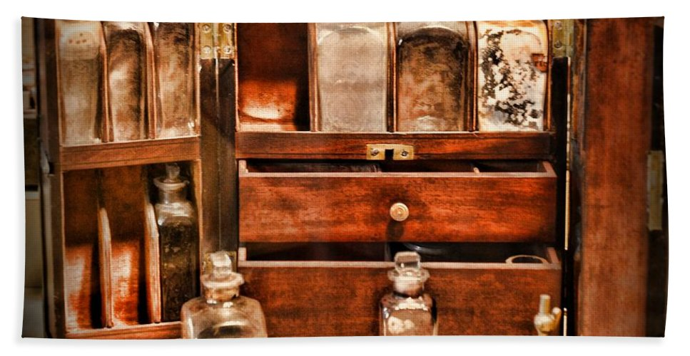 Paul Ward Hand Towel featuring the photograph Doctor - The Medicine Cabinet by Paul Ward