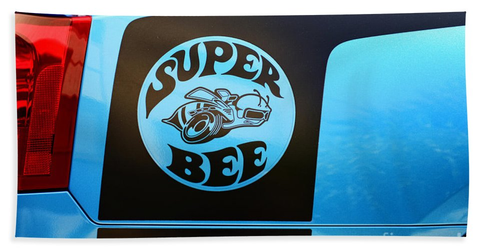 2007 Dodge Charger Bath Sheet featuring the photograph Dodge Charge Super Bee Logo by Paul Ward
