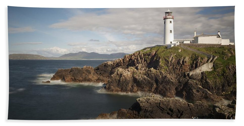 Irish Bath Sheet featuring the photograph Donegal Lighthouse by Andrew Michael