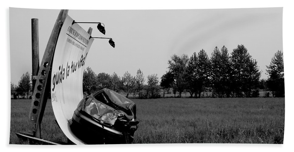 Life Bath Sheet featuring the photograph Don't Drink And Drive by Donato Iannuzzi