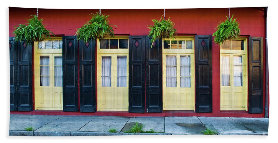 Door Bath Sheet featuring the photograph Doors And Shutters by Frances Hattier
