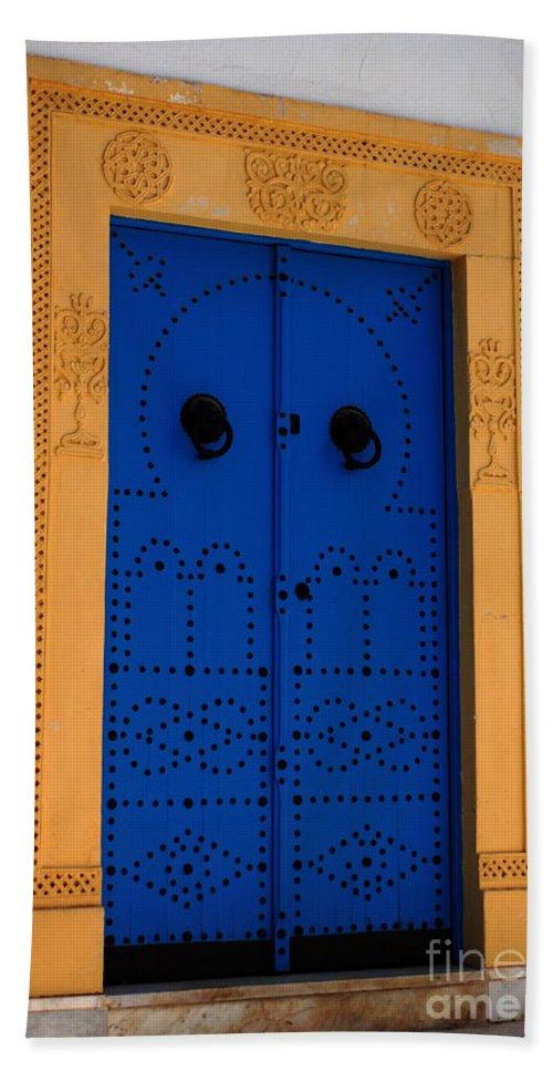 Door Bath Sheet featuring the photograph Doorway In Tunisia 2 by Bob Christopher