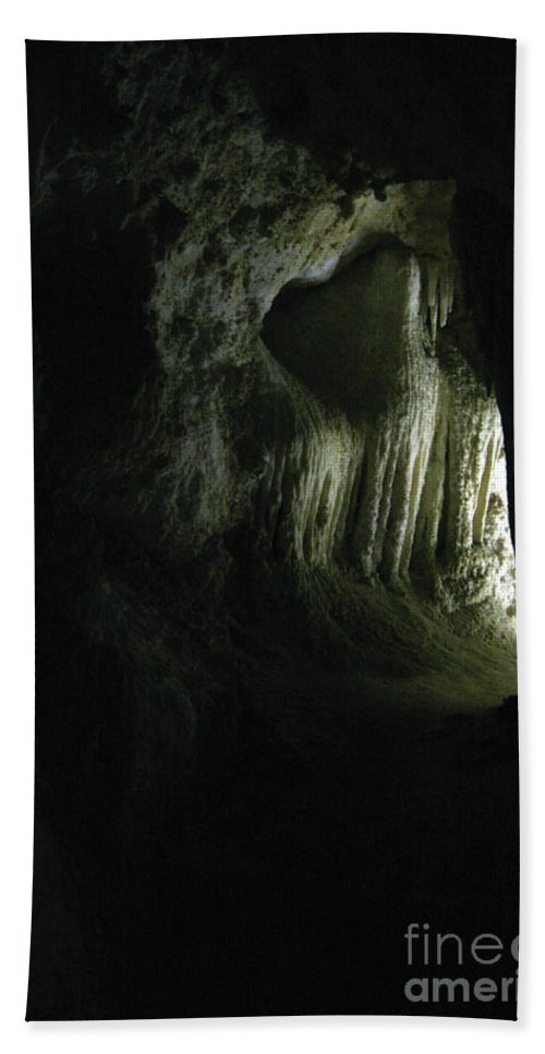 Cave Bath Sheet featuring the photograph Doorway To Wonderland by Alycia Christine