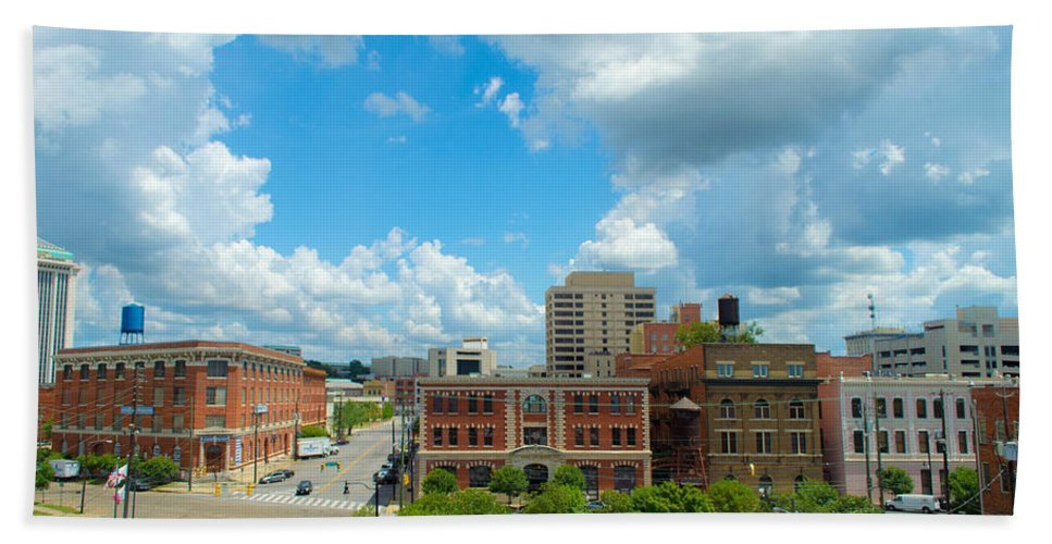 City Bath Sheet featuring the photograph Downtown Montgomery by Shannon Harrington