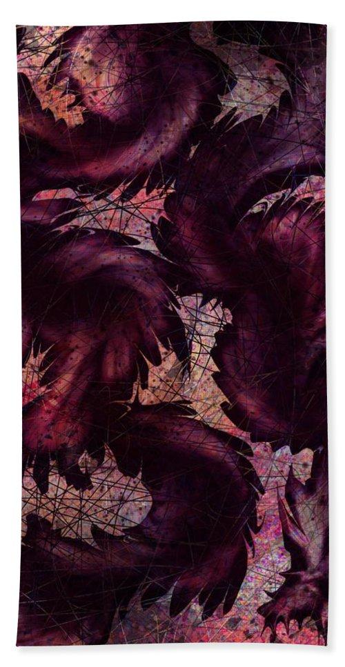 Dragon Bath Sheet featuring the digital art Dragon by Rachel Christine Nowicki