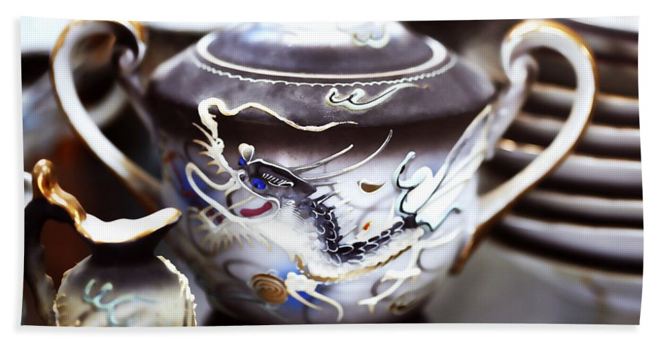 Dragon Bath Sheet featuring the photograph Dragon Satsuma Bowl by Marilyn Hunt